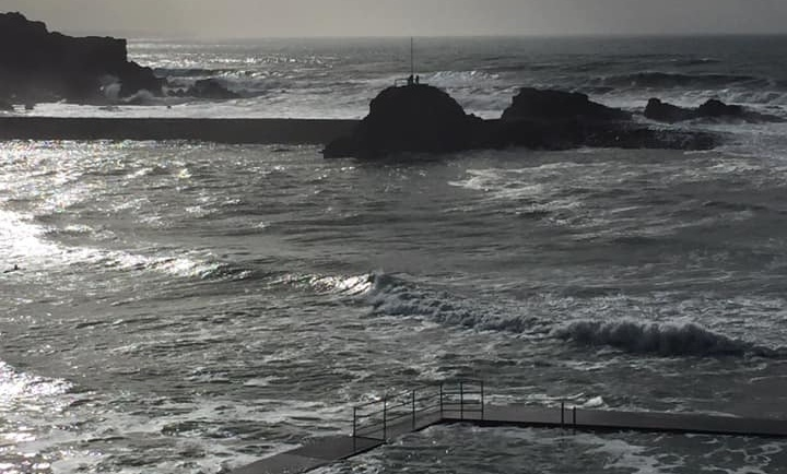 The sea pool at Bude in North Cornwall. I love winter swimming and this blog post explains why I believe winter swimming is good for running a business